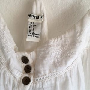 Forever 21 Woven Top with Buttons